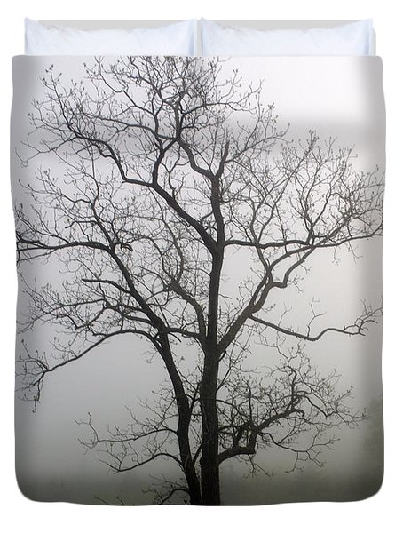 Mysty Tree 3 Duvet Cover by Marty Koch