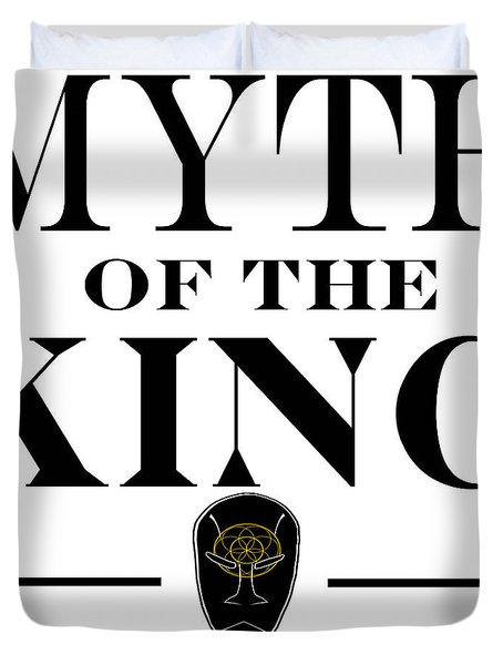 Duvet Cover featuring the digital art Myth Of The King Cover by Jayvon Thomas