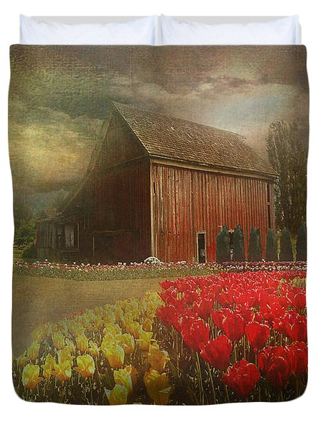 Mythical Tulip Farm Duvet Cover