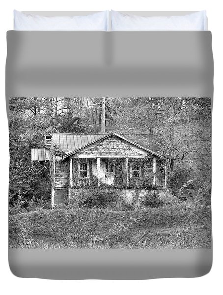 Duvet Cover featuring the photograph N C Ruins 1 by Mike McGlothlen