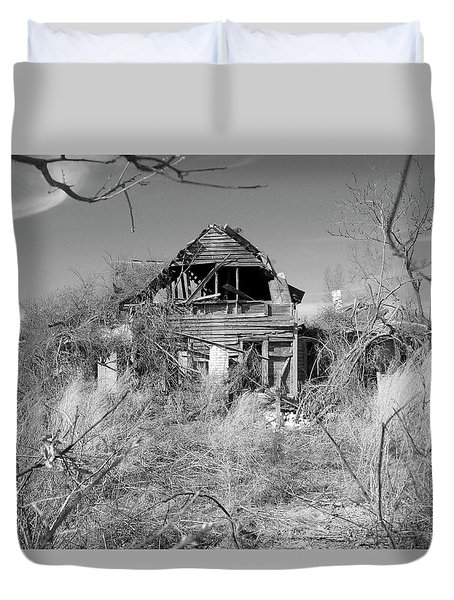 Duvet Cover featuring the photograph N C Ruins 2 by Mike McGlothlen