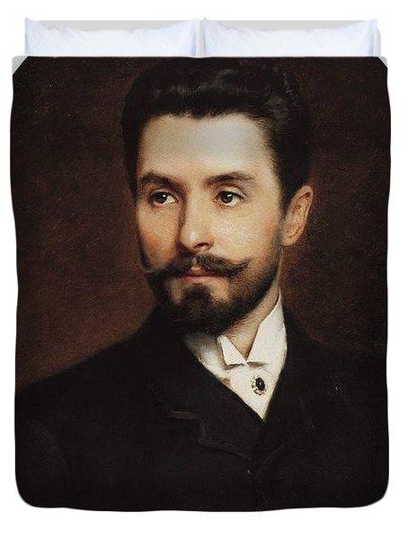N Fitner Opera Signer Konstantin Makovsky Duvet Cover