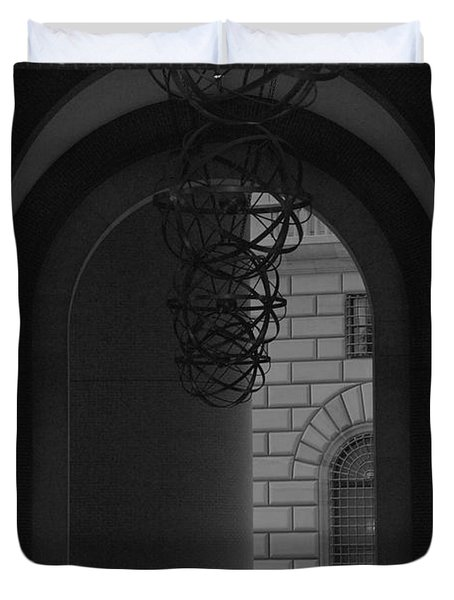 N Y C Lighted Arch Duvet Cover by Rob Hans