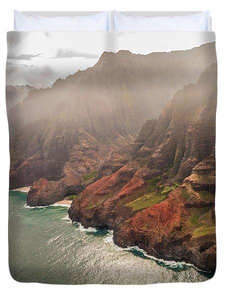 Na Pali Coast 4 - Kauai Hawaii Duvet Cover