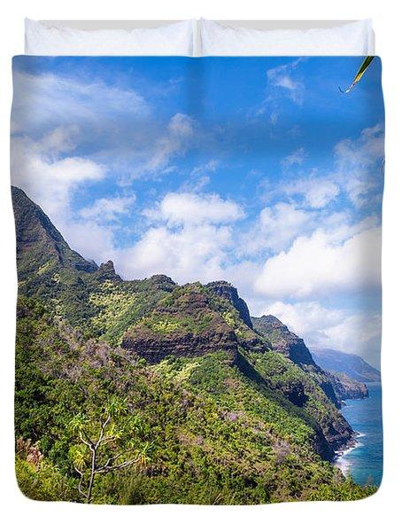 Na Pali Coast Kauai Duvet Cover by Brian Harig
