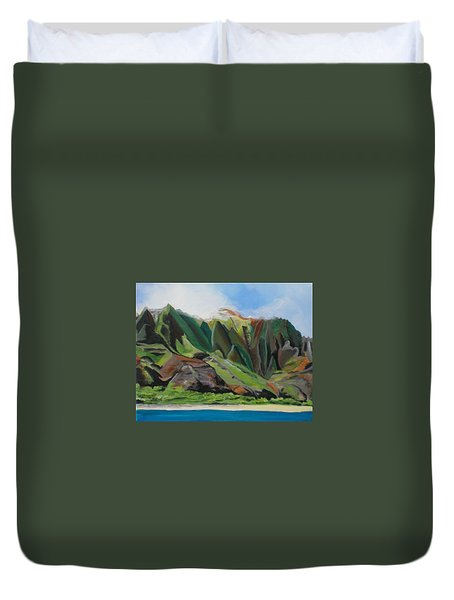 Na Pali Cruise Duvet Cover by Marionette Taboniar
