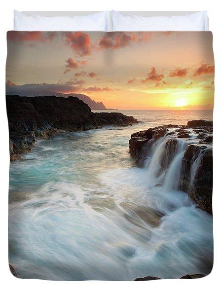 Na Pali Sunset Duvet Cover