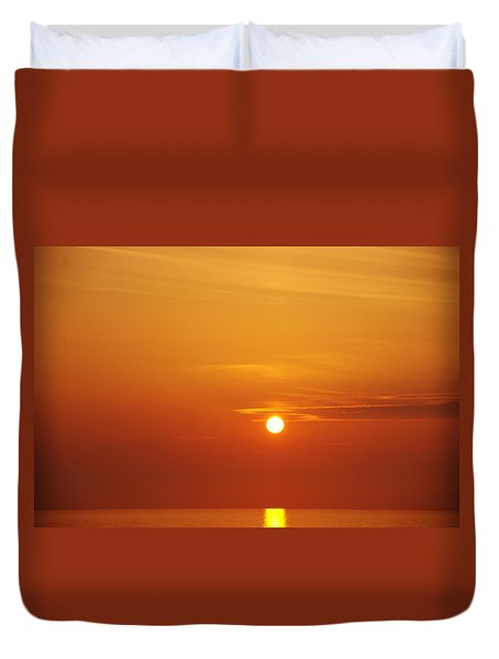 Nago Sunset Okinawa Japan Duvet Cover