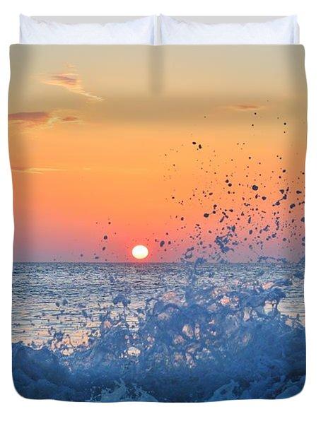 Nags Head Sunrise 7/15/16 Duvet Cover