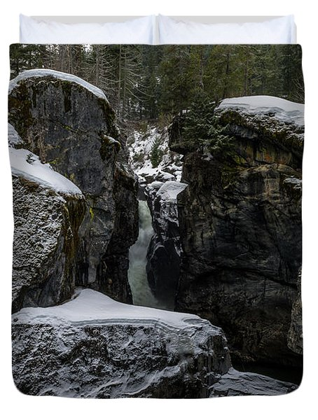Nairn Falls, Winter Duvet Cover