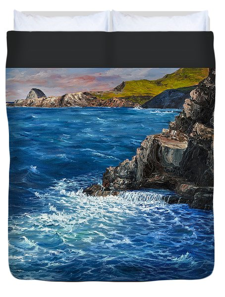 Nakalele Point Maui Duvet Cover by Darice Machel McGuire