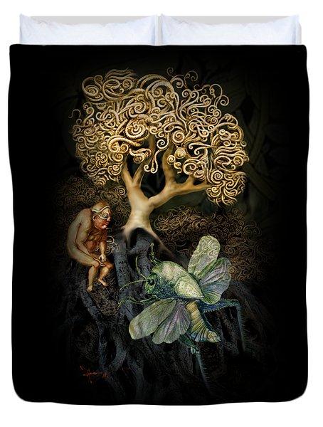 Naked And Afraid Duvet Cover by Hans Neuhart