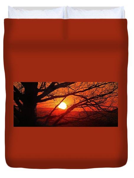 Naked Tree At Sunset, Smith Mountain Lake, Va. Duvet Cover