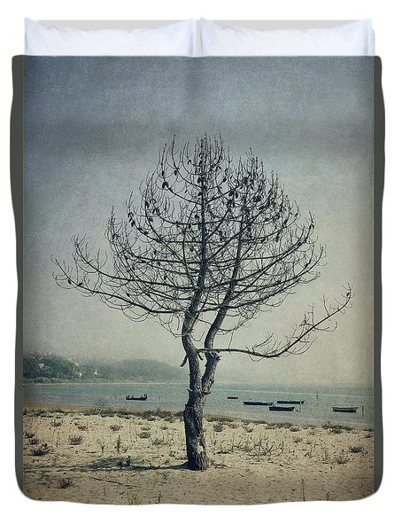 Duvet Cover featuring the photograph Naked Tree by Marco Oliveira