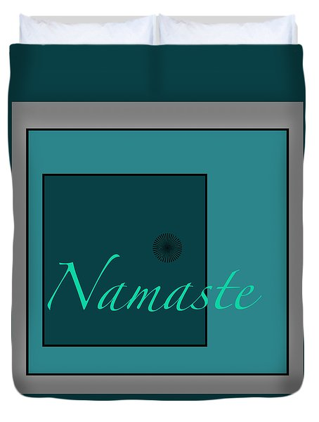 Namaste In Blue Duvet Cover by Kandy Hurley