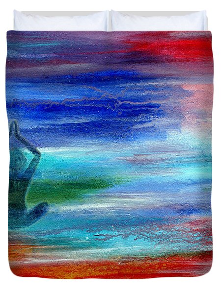 Namaste Duvet Cover by The Art With A Heart By Charlotte Phillips