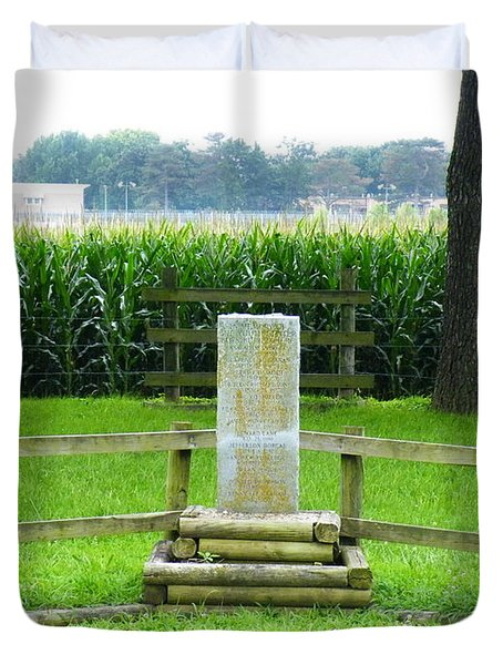 Name Marker In Youth Cemetery #1 Duvet Cover