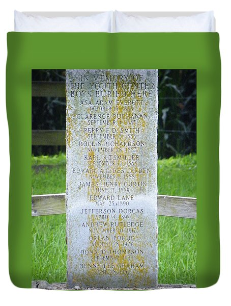 Name Marker In Youth Cemetery #2 Duvet Cover