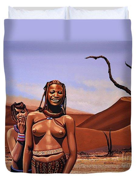 Himba Girls Of Namibia Duvet Cover