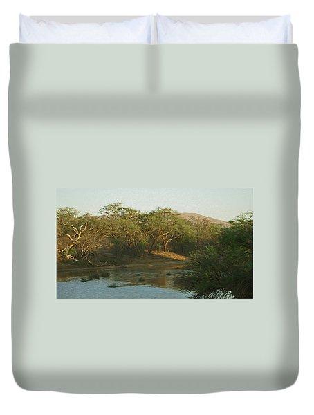 Namibian Waterway Duvet Cover by Ernie Echols