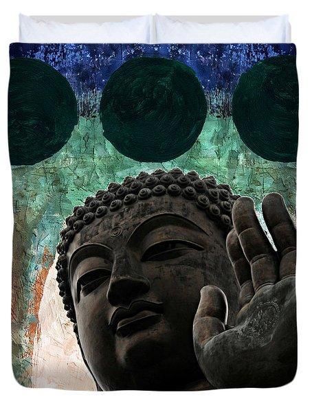 Namo Buddhaya Duvet Cover