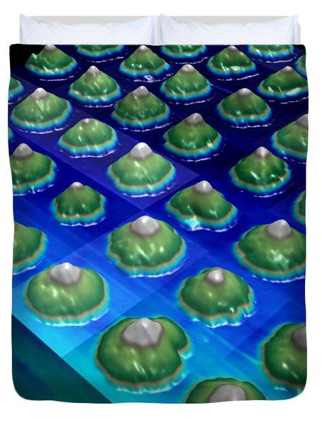 Nanoparticles, Lithium Metal, Afm Duvet Cover