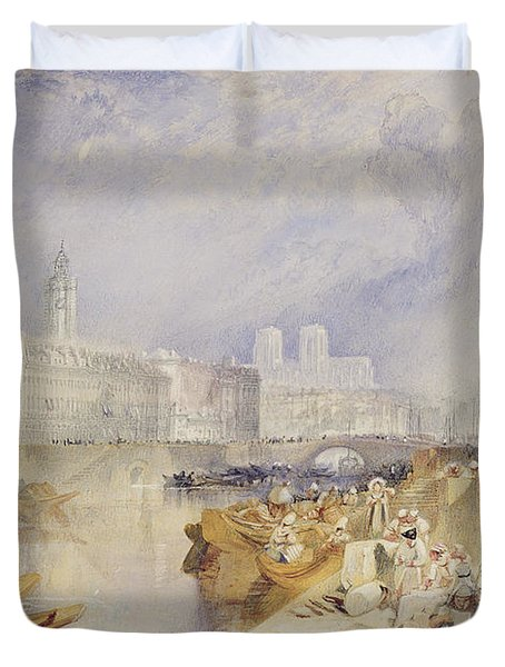 Nantes Duvet Cover by Joseph Mallord William Turner