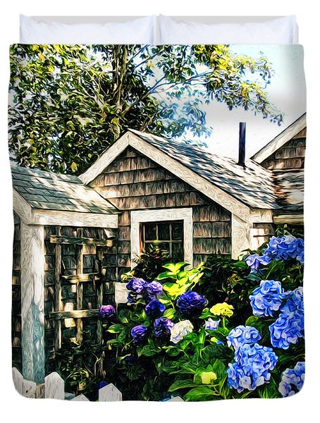 Nantucket Cottage No.1 Duvet Cover by Tammy Wetzel