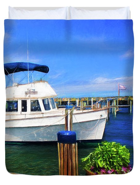 Nantucket Harbor Safe Harnor Series 52 Painted Duvet Cover