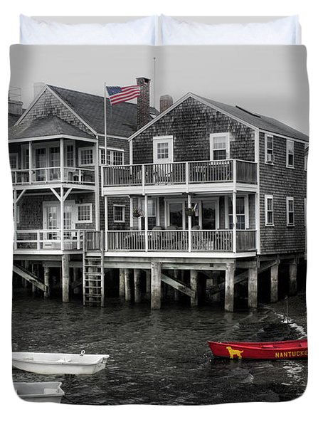 Nantucket In Bw Series 6139 Duvet Cover