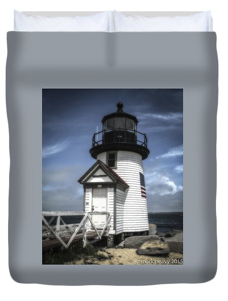 Nantucket Lighthouse Duvet Cover