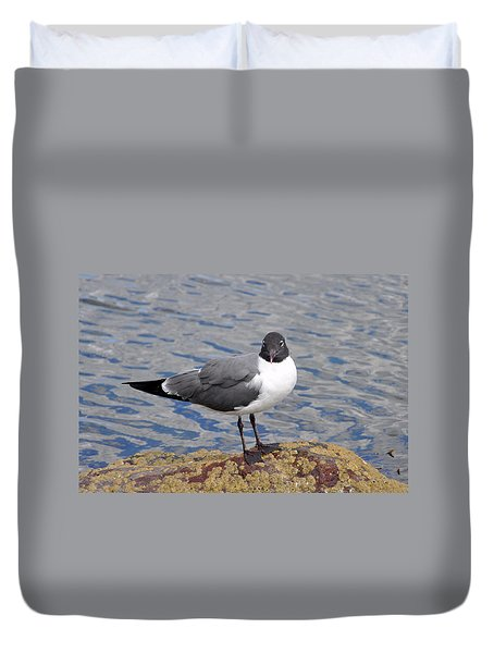 Duvet Cover featuring the photograph Bird by Glenn Gordon