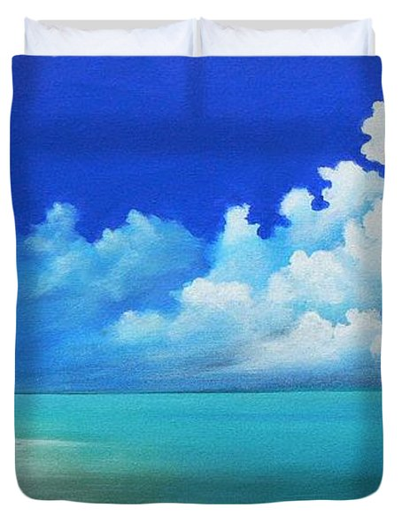 Nap On The Beach Duvet Cover