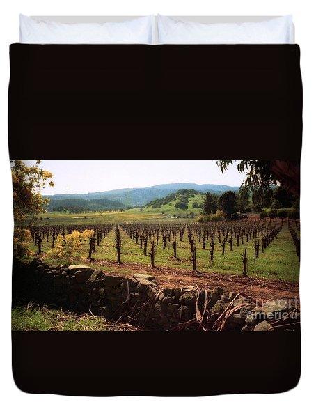 Napa Valley Hills Vineyard Duvet Cover