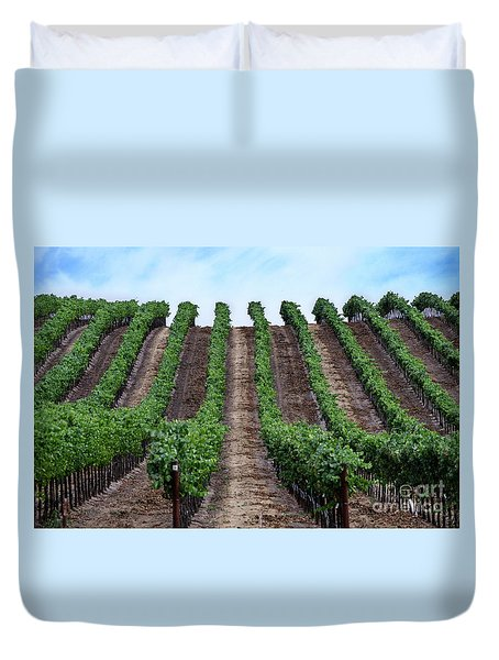 Napa Vineyards Duvet Cover by Judy Wolinsky