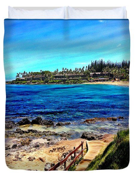 Napili Beach Gazebo Walkway Shower Curtain Size Duvet Cover