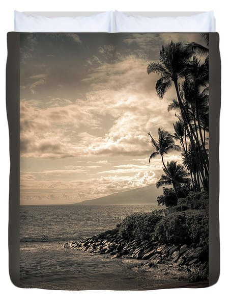 Duvet Cover featuring the photograph Napili Heaven by Kelly Wade