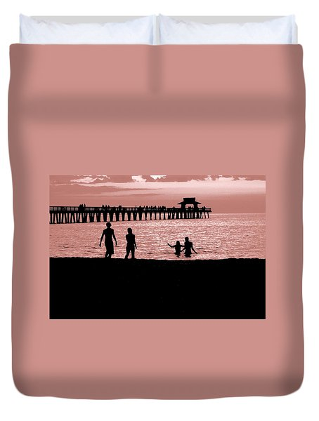 Naples Florida Sunset Duvet Cover