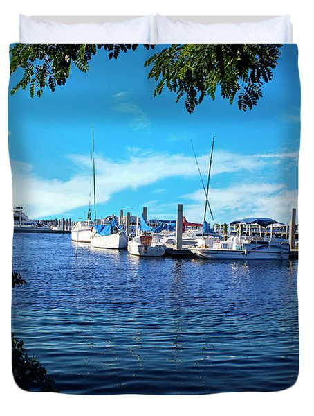 Naples Harbor Series 4054 Duvet Cover