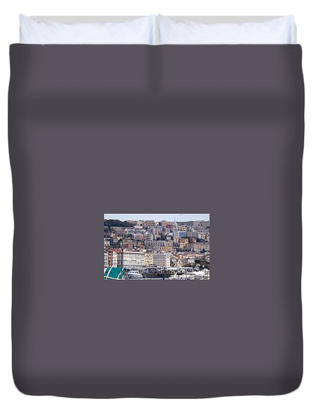 Naples In The Spring Duvet Cover