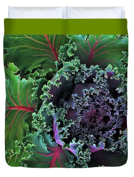Naples Kale Duvet Cover