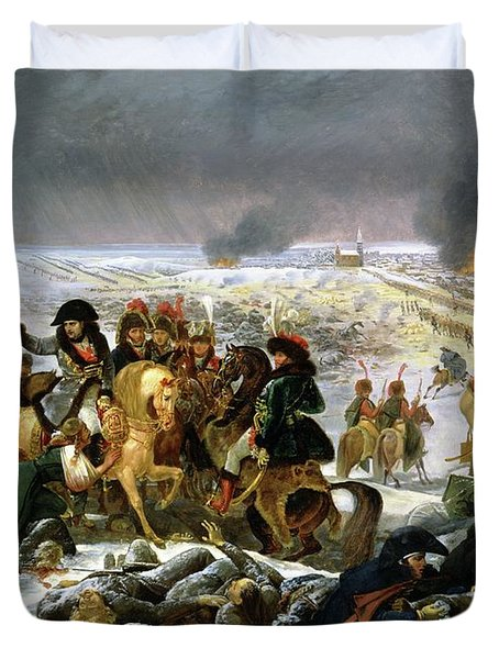 Duvet Cover featuring the painting Napoleon At Eylau  by Antoine Jean Gros