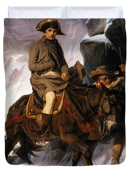 Napoleon Crossing The Alps Duvet Cover by Hippolyte Delaroche