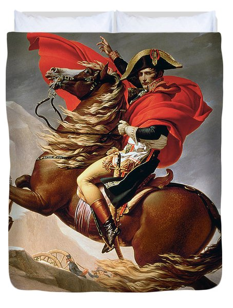 Napoleon Crossing The Alps Duvet Cover