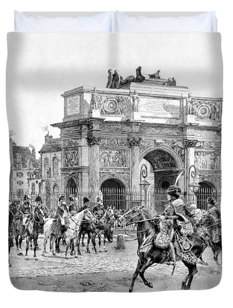 Napoleon Reviewing His Troops Duvet Cover by War Is Hell Store