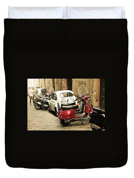Napoli Parking Duvet Cover