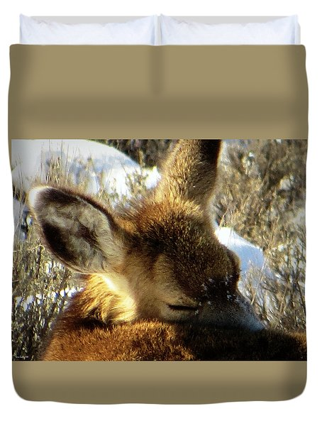 Napping Fawn Duvet Cover