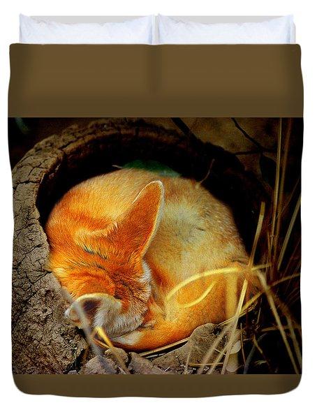 Napping Fennec Fox Duvet Cover