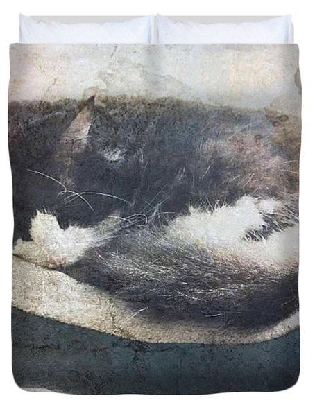 Napping In The Sun Duvet Cover