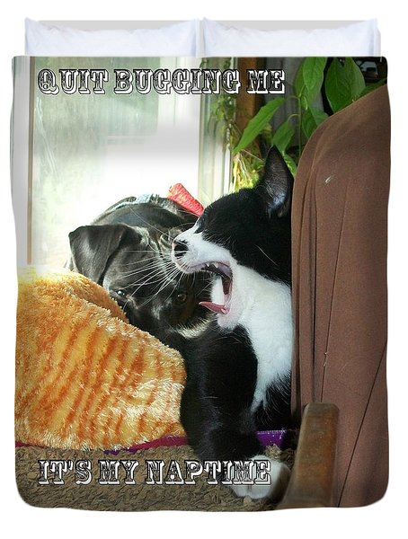 Duvet Cover featuring the photograph Naptime by Jewel Hengen